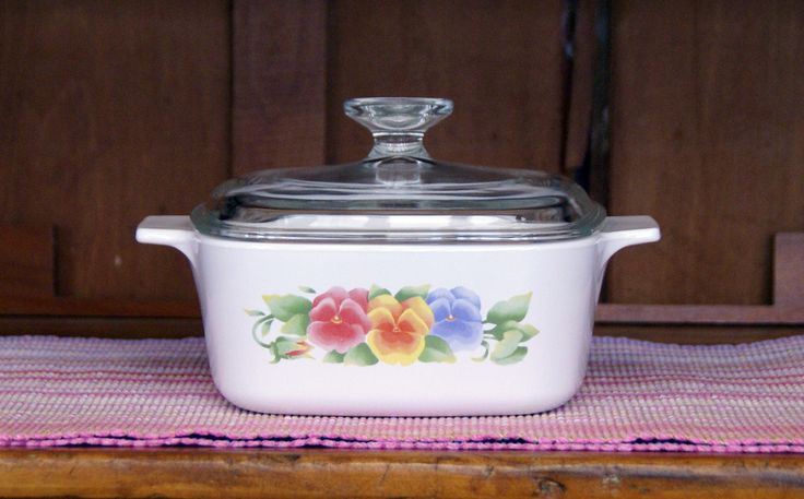 1.5 Liter ~ Corning Ware ~ Summer Blush ~ Covered Casserole ~ A-1.5L ~ Sauce Pan ~ With Pyrex Lid ~ Vintage by JingleBeanFarm on Etsy