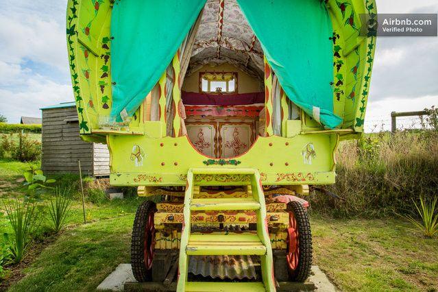 Rosie Gypsy Wagon Cornwall | Airbnb Mobile