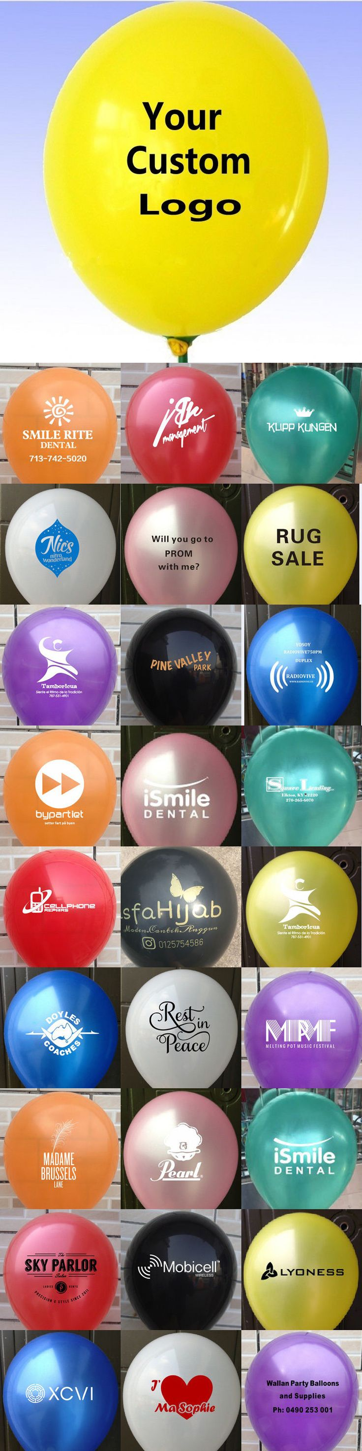 Balloons 26384: 200Pcs 10 Inch Custom Printed Latex Balloon For Advertising Promotion -> BUY IT NOW ONLY: $33.25 on eBay!