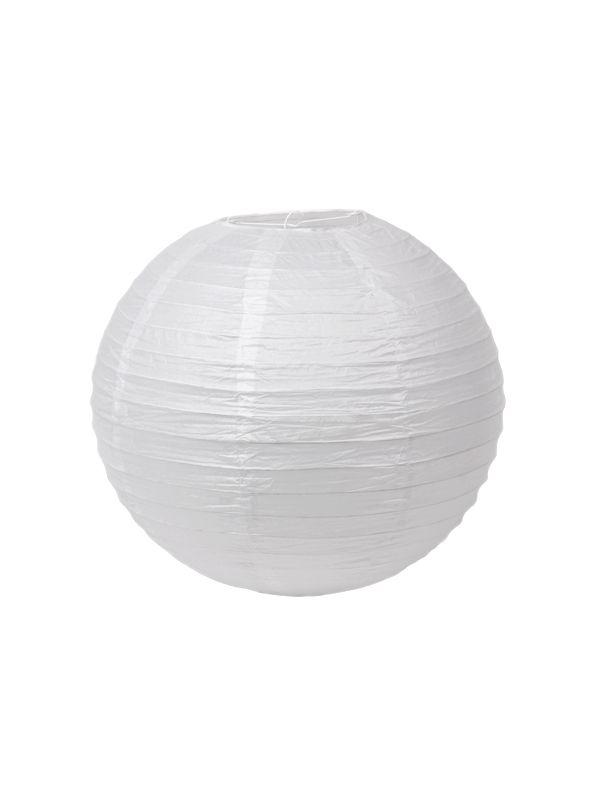 Chinese lampion bol. Een leuk idee is om verschillende lampionnen te combineren en in groepjes bij elkaar op te hangen. Zo creëer je een warme, gezellig sfeer in huis, je tuin of op je feest. € 1,95.
