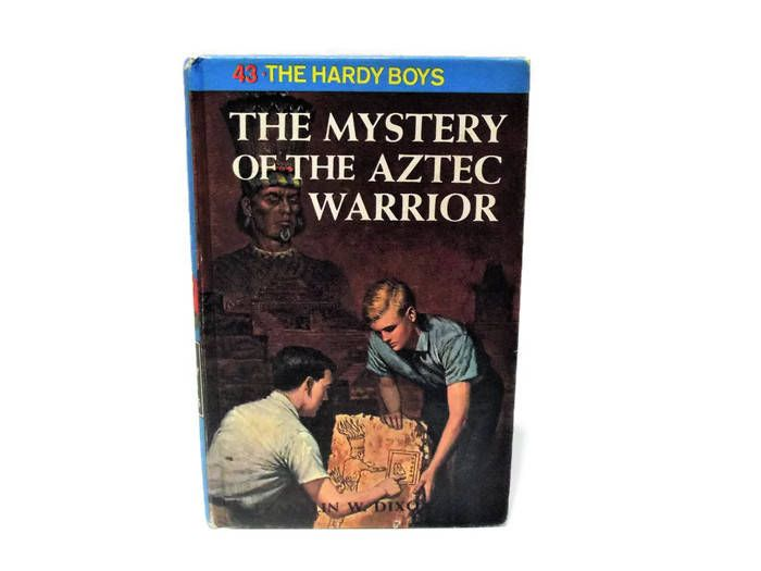 Vintage The Hardy Boys Hardback Book/ The Mystery of the Aztec Warrior/ #43/ Franklin W. Dixon/ 1964/ Children's Books/ Mystery Adventure by KMVintageTreasures on Etsy