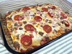 Dough-less pizza #recipe! This one is a WINNER!!!! Gluten Free, Low Carb, Diabetic Friendly!!!!!! For when you absolutely want pizza but not all the carbs! | via @SparkPeople