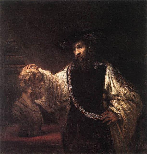 Ο Αριστοτέλης με μια προτομή του Ομήρου (1653)