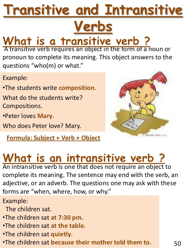 transitive and intransitive verbs - Google Search