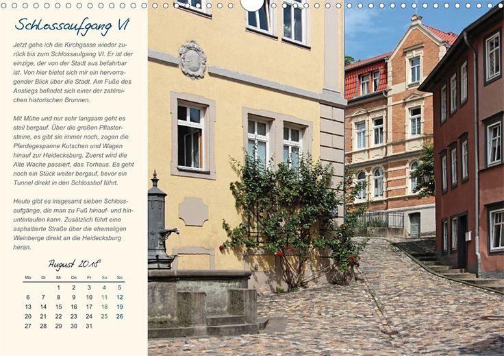 """Städte- und Regionalkalender """"Rudolstadt – mein Spaziergang durch den historische Stadtkern"""", Kalenderblatt August: Schlossaufgang VI"""