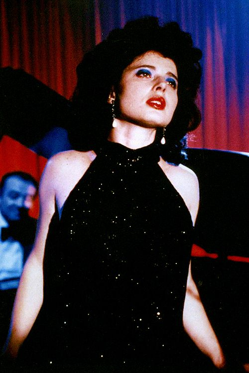 analogous - Isabella Rossellini in David Lynch's, 'Blue Velvet' 1986.
