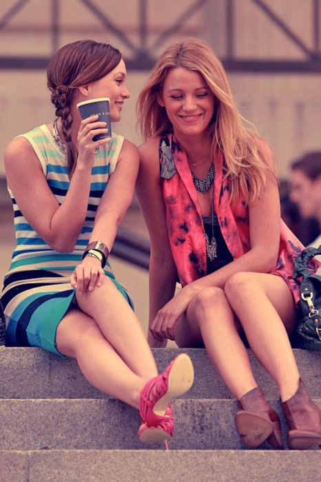Blake Lively and Leighton Meester (Serena and Blair on Gossip Girl)