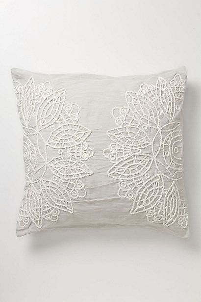 solea euro sham handstitch string in an intricate design onto a throw pillow to emulate this look or use doilies instead