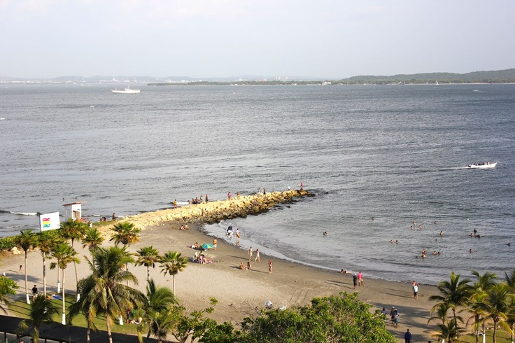 The beach at the Hilton Cartagena Colombia