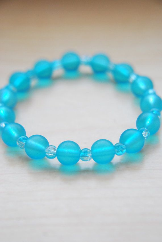 Hey, I found this really awesome Etsy listing at https://www.etsy.com/listing/206029943/blue-beaded-stacking-bracelet-blue