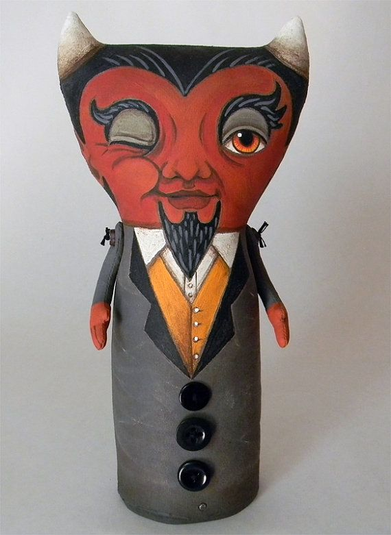 Handmade Cloth devil doll http://www.etsy.com/shop/cartbeforethehorse?ref=seller_info