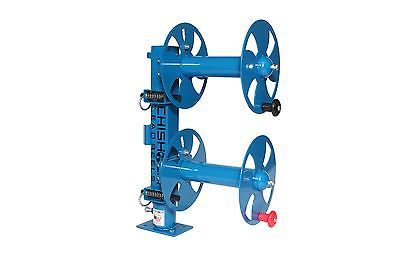 "10"" BLUE Heavy-Duty SWIVEL-BASE Double Welding Lead Reel"