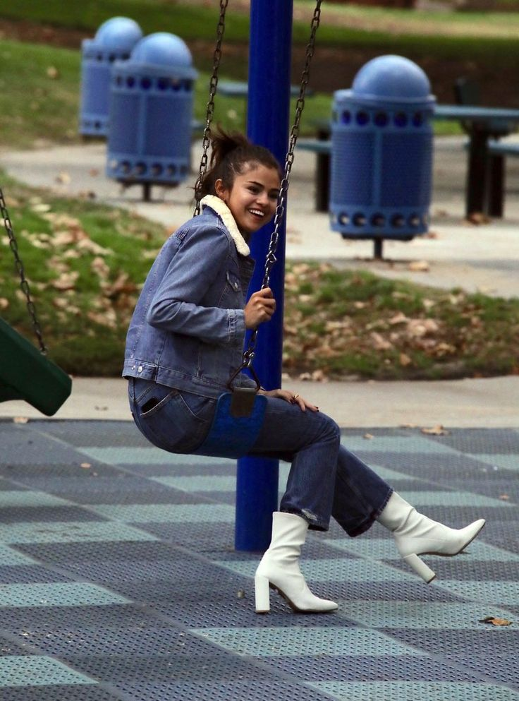 November 2: Selena at a park in Burbank, CA.
