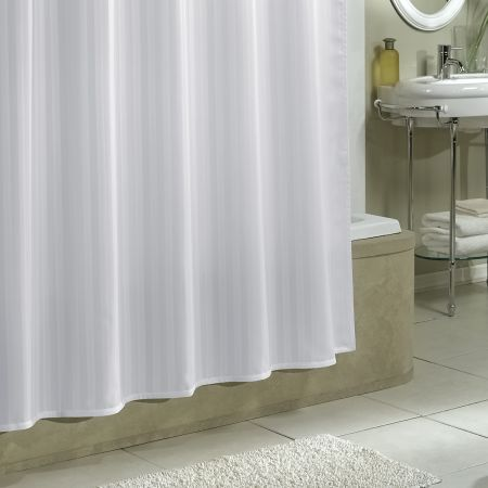 Protect Your Shower Curtain With Our Damask Stripe Fabric Liner Croscill