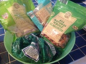 Trim Healthy Mama quick snacks listed by S, E, or FP