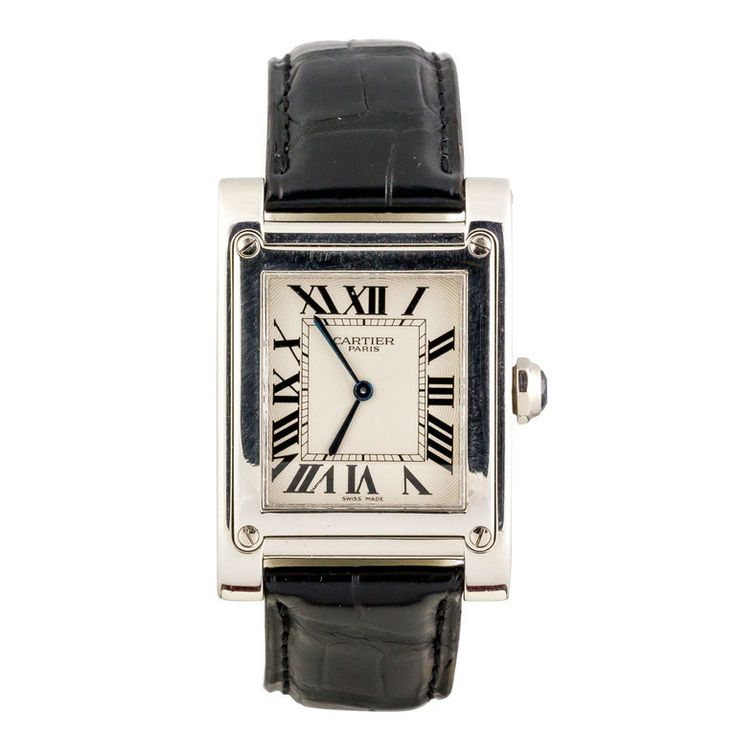 Cartier Platinum: Cartier Platinum Tank A Vis Privee Collection Mecanique