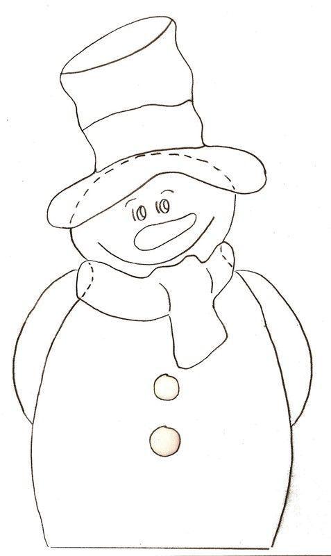 Gabarit - Calendrier de l'Avent Boites bonhommes de neige