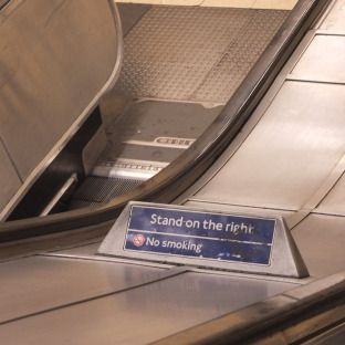 "London Underground and London Tube ""stand on the right"""