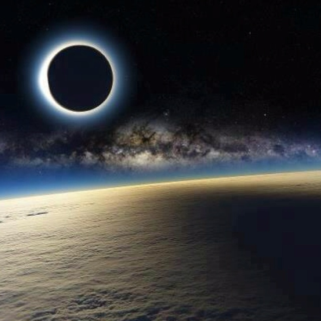 May 20th Annular Eclipse seen from space.