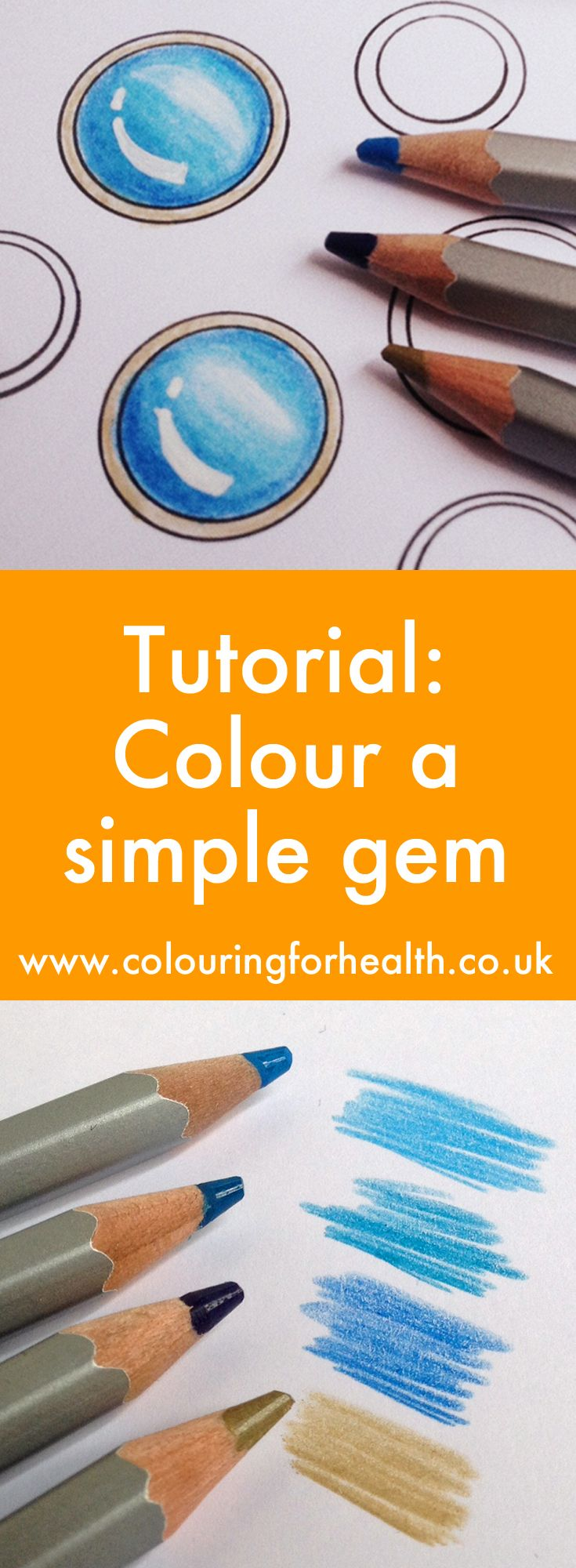 An easy tutorial video to colour gemstones with pencils