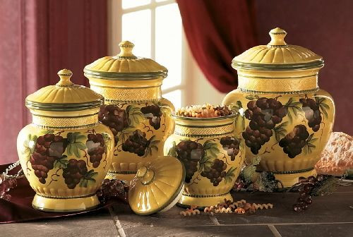 ... Grape Kitchen Canisters By 17 Best Images About Grape Grapevine Kitchen  On Pinterest ...