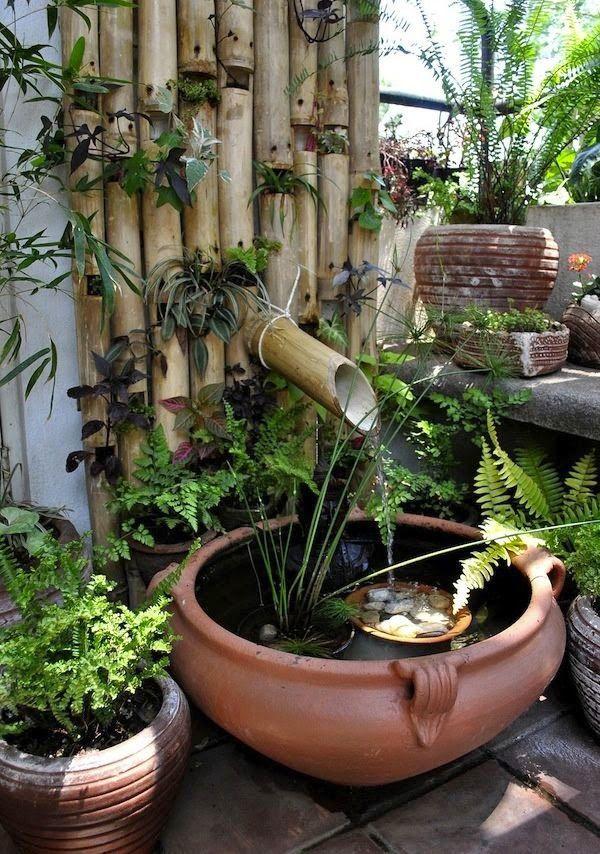 Las 25 mejores ideas sobre mini estanque en pinterest y for Estanque jardin pequeno