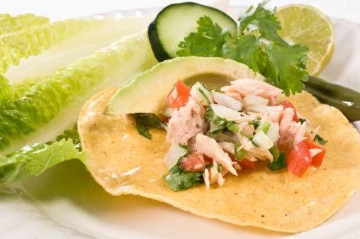 Healthy Salmon Tostada Salad