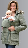 I love this coat... for pregnancy and for baby wearing!!