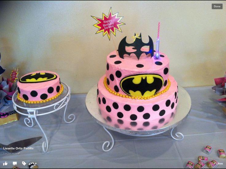 Batgirl birthday cake