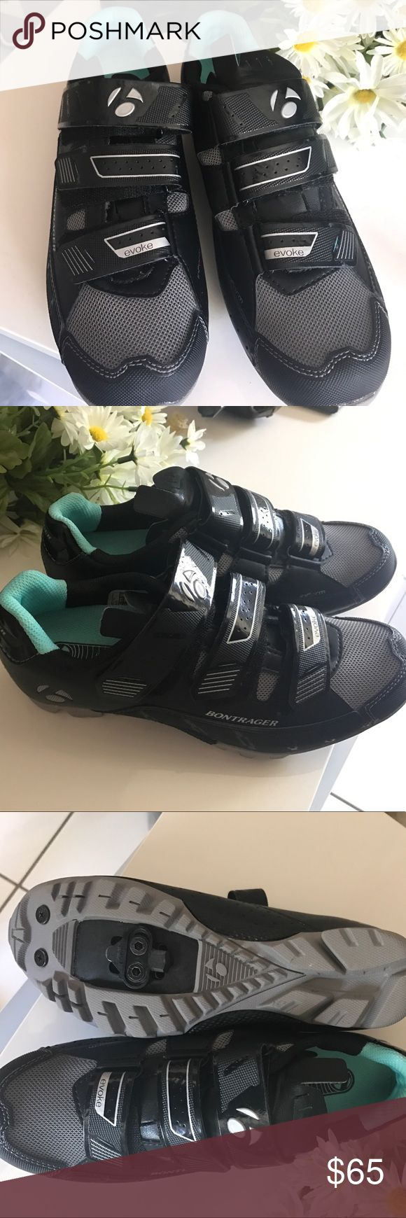 Bontranger evoke MTB shoes Bontrager evoke mountain show with inform footbed insoles. Includes clips to clip into your bike. Perfect for taking cycling classes that require you to clip into the bike. Also a great shoe for hiking. Like new condition bontrager Shoes Athletic Shoes