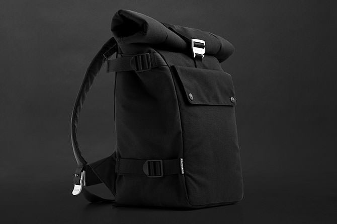 The Backpack features a large interior pocked that fits even larger laptops comfortably