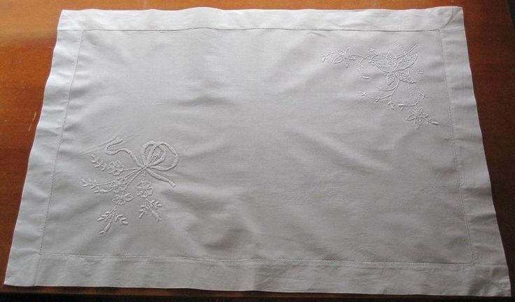 Authentic Linen VERY LARGE piece White Embroidery on White Linen for COLLECTORS in Antiques, Textiles, Linens, Lace, Crochet, Doilies | eBay SELLER ID:kathy_a1