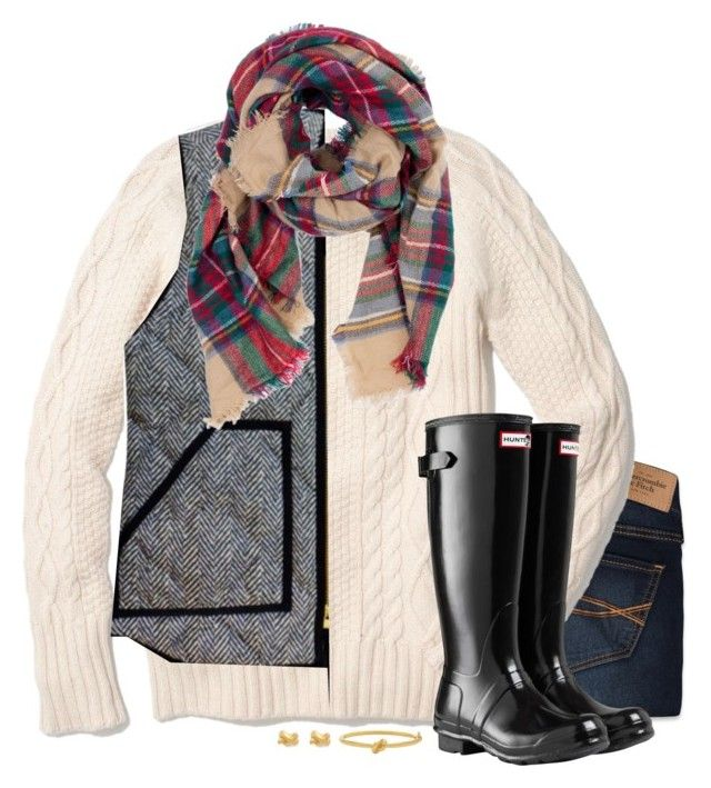 """RTD!! This outfit has been like my uniform this fall!!! Lol"" by thedancersophie on Polyvore featuring Abercrombie & Fitch, Madewell, J.Crew, Look by M, Hunter and Kate Spade"
