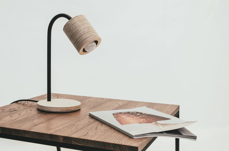 C-light table — smple table lamp made of plywood and metal by minimalmood