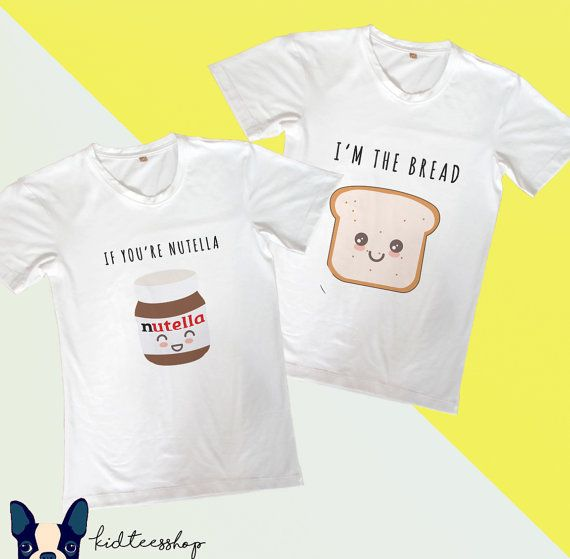 Set of 2 shirts Nutella and bread matching by FunnyCoupleTees