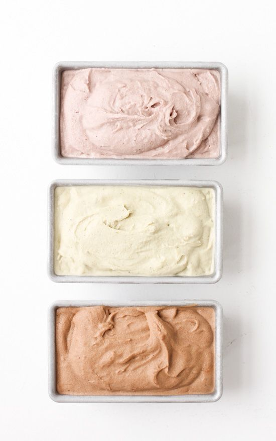 homemade frozen yogurt {pretty colors}