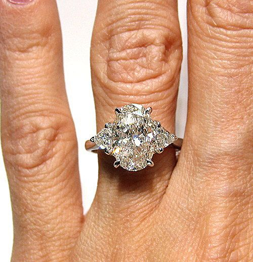 pfft in my dreams. 3.44 Oval Diamond engagement ring