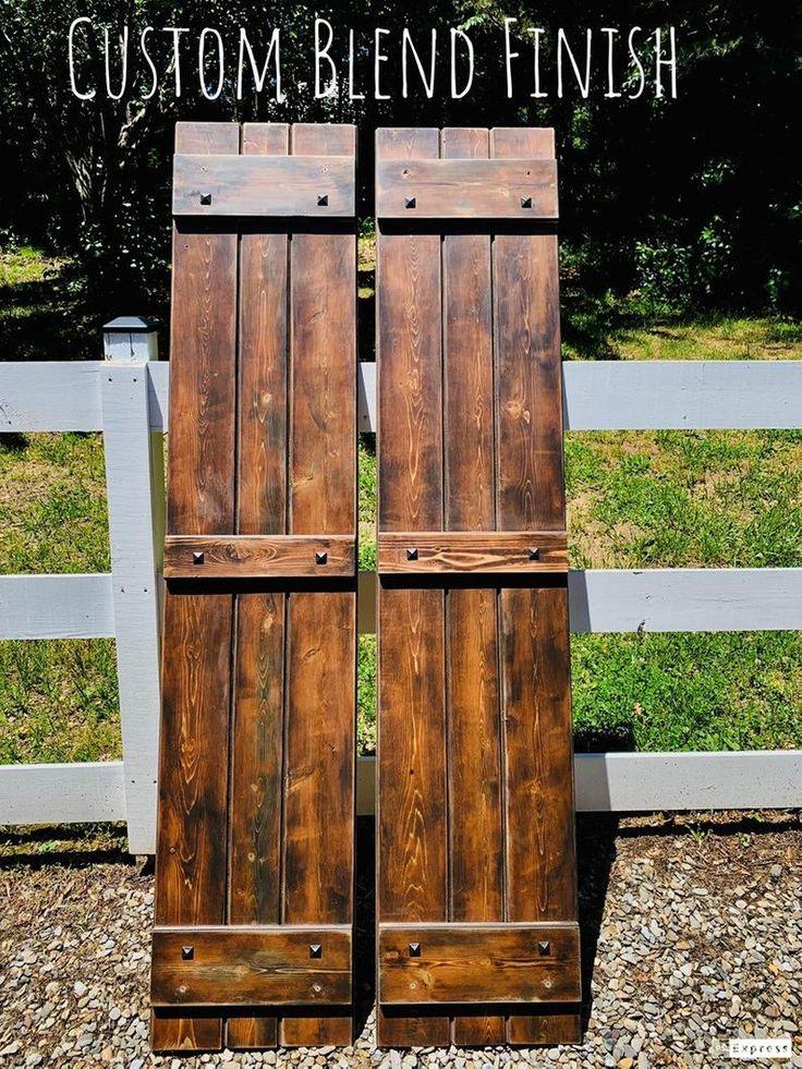 Custom cedar wood shutters w clavos signature design