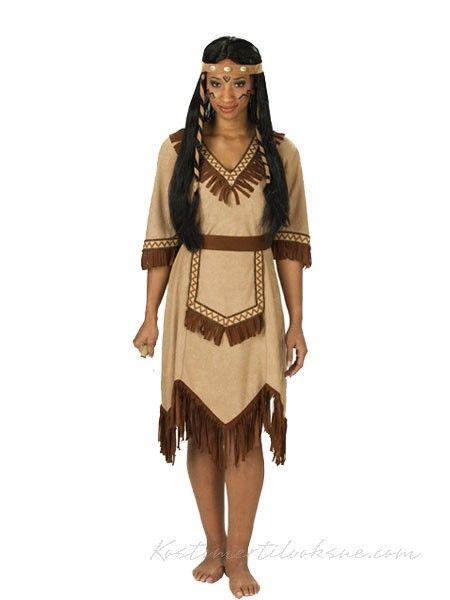 Halloween Kostumer Indianer Kostume til Kvinde