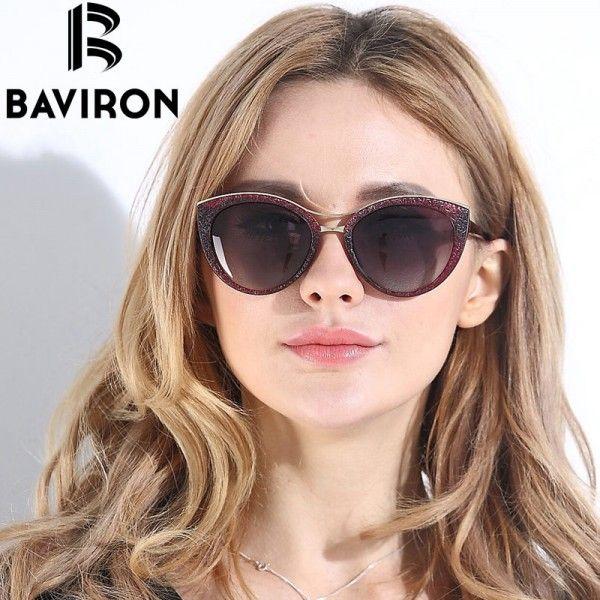 New Fashion Cat Eye Sunglasses Women White Frame Gradient Polarized Sun Glasses Driving UV400 Aluminum Eyewear Box