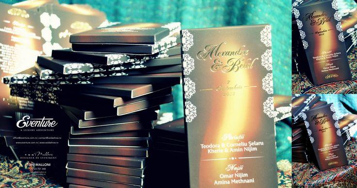 Invitatie de Nunta tip Ciocolata by Eventure Co.  graphic designer T.Ina & event designer Toni Malloni  www.eventure.com.ro www.tonimalloni.ro www.bprint.ro www.eventurecentralstore.ro +40 723 701 348 office@eventure.com.ro