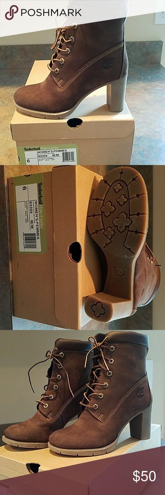 Timberland Micro-suede Boots For sale is a practically new pair of women's Timberland size 6 boots. The heel measures 3 inches. Timberland Shoes Ankle Boots & Booties