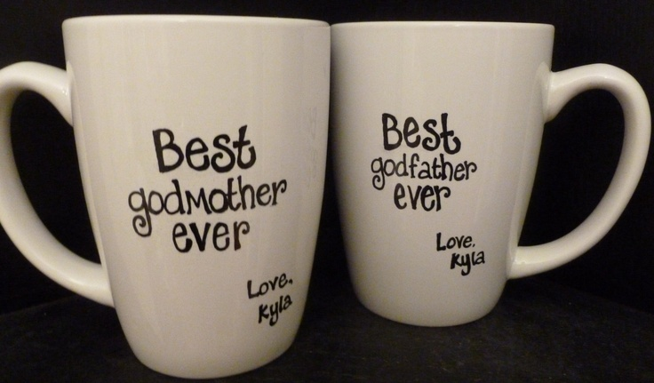 godmother or godfather mugs godparent baptism or birthday gift