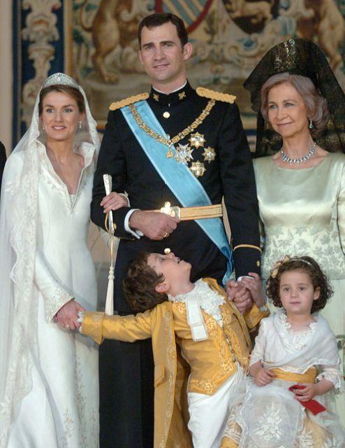En la boda de los Príncipes de Asturias