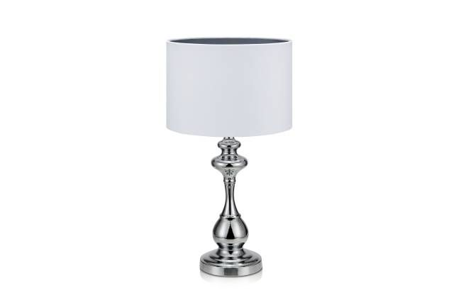 Connor Bordlampe 1L Krom/hvit - Trademax
