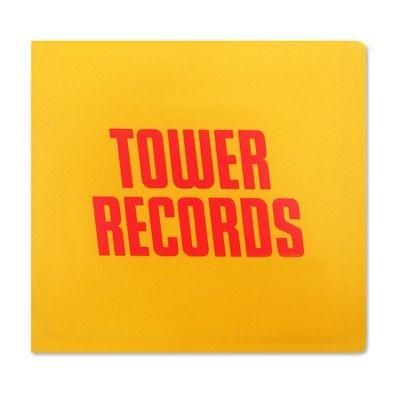 【タワレコ CDケース】 タワレコ・カラーが眩しいCDケース!CDやDVDなど直径12cmのディスク12枚をコンパクトに収納。持ち運びに便利!