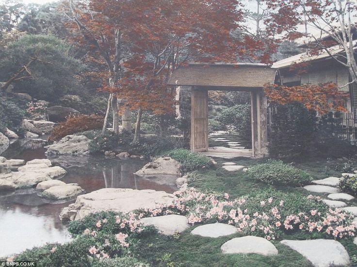 tranquil garden : photo by Tamamura Kozaburo c1910