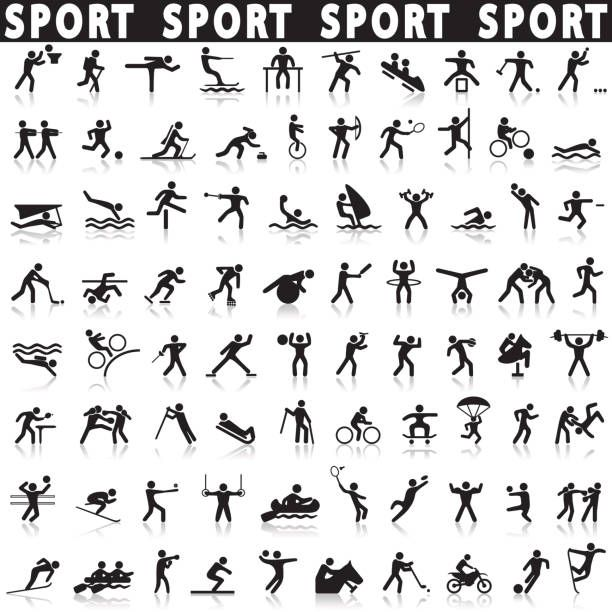 Sports Icons Set On A White Background With A Shadow Icon Set Icon Set Vector Sport Icon