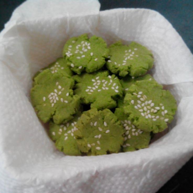 Green tea wijen cookies