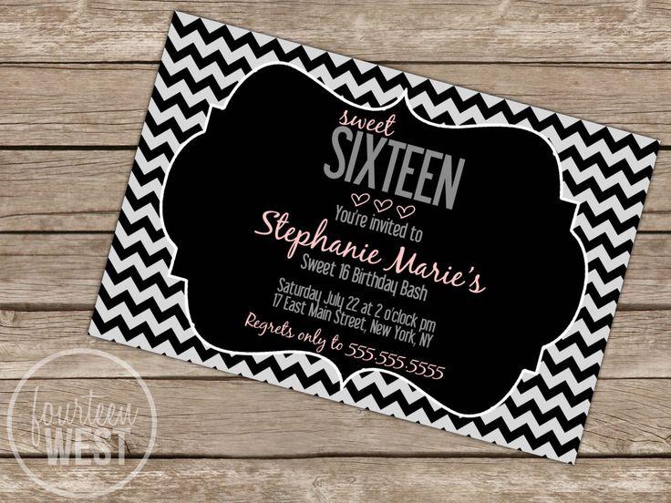 Free Printable Sweet 16 Party Invitations   Invitation Sample   Pinterest   Invitations, Sweet ...